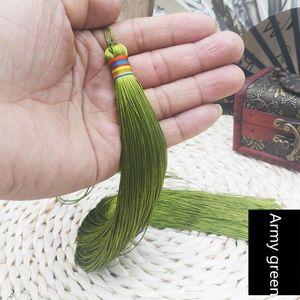 2 unids 33 cm Muy largo trenzado borla de bricolaje joyería de bricolaje Hogar textil cortina prendas decorativas fabricando encantos colgantes Artesanía borlas H jltlx