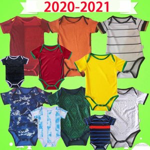 Kit de bebé Jersey de fútbol Italia España Japón Mecixo Argentina Kids Suit 2020 2021 Mes Boys Netherlands Holland Child Sets Camisa de fútbol para niños