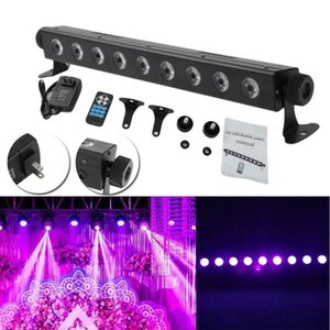UV LED Bar w  9 LED 260W Black Light for Disco Remote Control Stage DJ Lighting