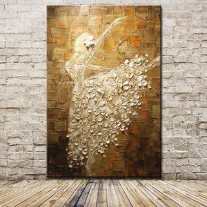 Mintura Ballet Dancer Picture Hand Painted Abstract Palette Knife Oil Paintings On Canvas Wall Art For Living Room Home Decor Z1202
