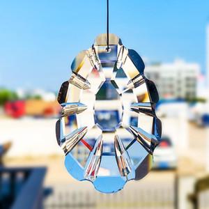 1pc Pine Cono Cristales de cristal SunCatcher Crystal Prisms Chandelier Parte Colgante Chakra Colgar Crystal Home Wedding Decor 60 75mm H jllicll