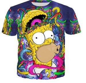 The Anime Cartoon Simpsons Plus Harajuku Men Shirt Homer Print T Short Sleeve Women Couples Fashion 3D Size Tops Cdene