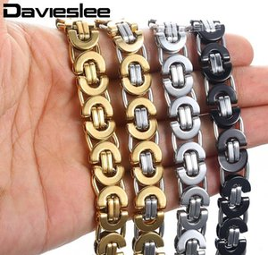 Steel Bracelets Jewelry Tone Men Bracelet Mens Chains Stainless Silver Gift Fashion For Byzantine 6 8 11mm Gold sqcip queen66