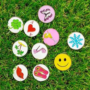 Pinmei Golf Ball Mark Confect of 10 Iron Embossied Iron Soft Smaly Golf Markers, può adattarsi alla maggior parte delle clip GOLB Cap o Golf Divot Reposir Tool 201026