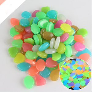 The New Glow Stones Cobblestone Dark Luminous Pebbles Stones For aquarium Wedding Romantic Evening Festive Events Garden Decorations Crafts