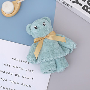 35*75cm Coral Velvet Cartoon Towels Water Absorption Towel Bear Wash Face Towel Hand Gift Adult Gift Towels 33 L2
