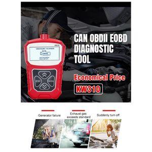 KW310 Car Scanner OBD2 Universal Auto Fault Diagnosis Tool Check Engine Code Reader Automotive Diagnostic Machine Repair Tool