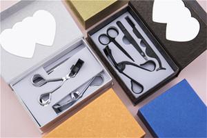 أدوات الجمال الساخنة 4 قطعة / حزمة الرموش الصناعية ملاقط الفولاذ المقاوم للصدأ الحاجب الملقط ماكياج مقص الحاجب مشط الرموش بكرة ماكياج عدة