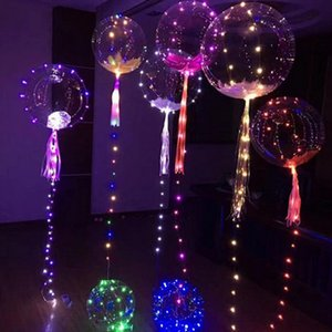 3M String LED Bobo Balloon Party Wedding Decor LED Light Balloons Christmas Halloween Birthday Balloons Luminescent Bobo Balloons BH2104 TQQ