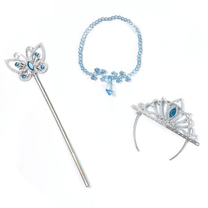 PrettyBaby Girls Cinderella Accessories Crown Wand Wand Xmas Rhinestones Butterfly Heels Necklace Baby Crown Magic Sets High Girls Neck Vxbx