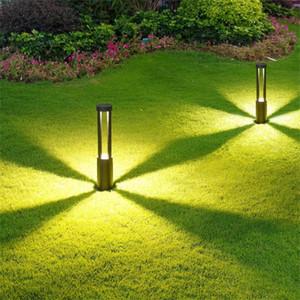 LED Jardín Luz de césped 10W COB Aparcamiento Bolardos LED Jardín Luz AC85-265V Aluminio Impermeable LED Lámpara de paisaje