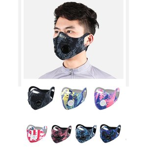 Carbon PM 2.5 Cycling Face Masks Outdoor Windproof Dust Proof Masks Replaceable Activated Carbon Filter Face Mask