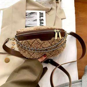 Designer Women Plush Waist Bag Ladies Belt Bags Fashion Travel Ins Crossbody Chest packs Autumn Winter Fanny pack