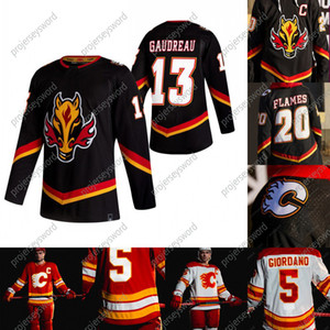 2020-21 inversa retro Mateo Tkachuk Jersey de Calgary Flames Johnny Gaudreau Mark Giordano Sean Monahan Mikael Backlund Cam Talbot jerseys