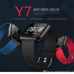 Y7 Smart Bracelet Blood Pressure Oxygen Sport Fitness Tracker Watch Heart Rate Monitor Wristband Pk Fitbit Versa Mi band 3 115 Plus