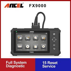 Ancel FX9000 Diagnostic Scanner Full System Car Diagnostic Tool Oil ABS 15 Reset Function OBD2 Automotive Scanner Professional