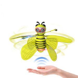 MINI BEE DRONE DRONE UFO Control remoto Juguetes RC Animal Aircraft Toy Kidship Dropship RC Helicopter Fly Ball Juguetes para el regalo de cumpleaños