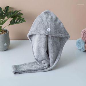 High-quality Microfiber Hair Quick Drying Cap Absorb Moisture Dryer Towel Bath Shower Wrap Hat Cap Coral Fleece Dry Hair1