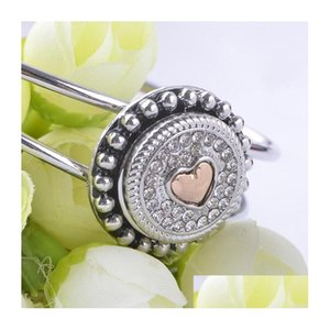 New Arrival Wholesale Noosa 18 Mm Snap Button For Ginger Snaps Interchangeable Jewelry Fit Rhinestone For Women Shippping Mlfzf