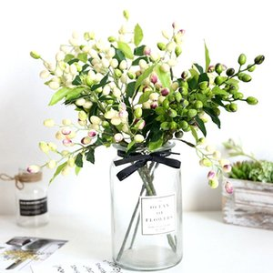 Artificial Flower Olive Fruit Branch Bouquet Greenery Flower Plant Decoration For DIY Wedding Party Home Garden Props Supply