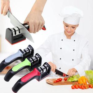 3 Colors Sharpener Ceramic Handle Household Tungsten Fast Knife Grindstone Coarse Fine Sharpening Stone Knife Kitchen Tool