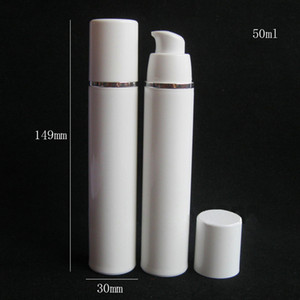 15ml 30ml 50ml High Quality White Airless Pump Bottle -Travel Refillable Cosmetic Skin Care Cream Dispenser Lotion Packing Container EEF3936