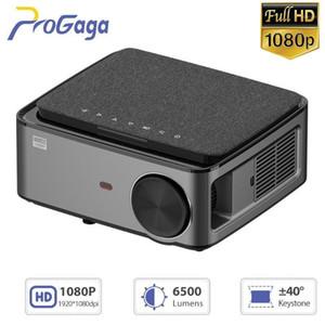 Progaga GA828 HD проектор родной 1920 x 1080P Projector WiFi MultiScreen смарт-телефон Beamer LED 3D домашний кинотеатр видео Cinema1