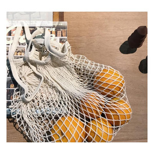 Shopping Bags Handbags Shopper Tote Mesh Net Woven Cotton Bags String Reusable Fruit Storage Bags Handbag Reusable H jllTGV bdebag