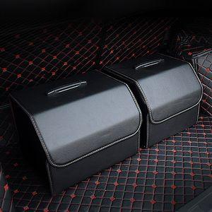 Автомобильный багажник Организатор Box PU Кожаные складные Участки, укусовые внутренние держатели, ботинок / еда / вещи для хранения автомобилей для хранения автомобилей