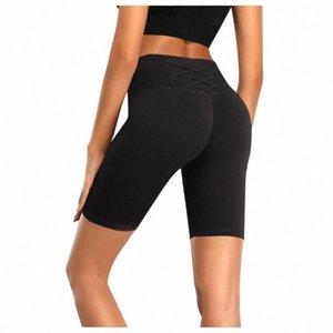 # H40 Женщины Высокая Талия Энергия бесшовные Шорты Yoga Push Up Hip Dyrection Шорты Фитнес Спортивные леггинсы