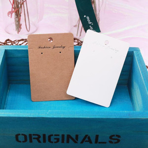 High Quality 15Pcs lot 6x9cm Kraft Jewelry Cards Paper Earrings Card Ear Studs Necklace Display Packaging Cards Tags1