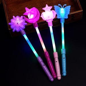 Piscando Light Up Sticks Magia LED Wands DJ Fairytale Princesa Traje Fantasia Vestido Glow Star Crown Presente QW8504