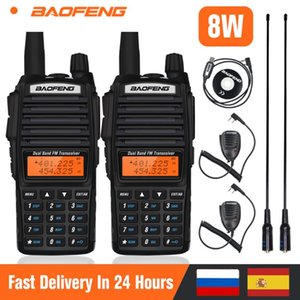 2pcs Baofeng UV-82 Walkie Talkie 8W Powerful Portable Dual Band Radio UV 82 VHF UHF Two Way Ham Radio UV82 10km FM Transceiver