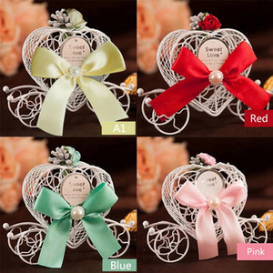 Creative Coach Carriage Car shape Wedding Party Favours Candy Chocolate Christmas Sweet Sugar Favor Box Decorations Gift Boxes RRF3789