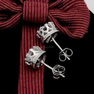 Crystal crown stud earrings Fashion women silver Cubic Zirconia diamond earrings wedding ear ring fashion jewelry will and sandy new