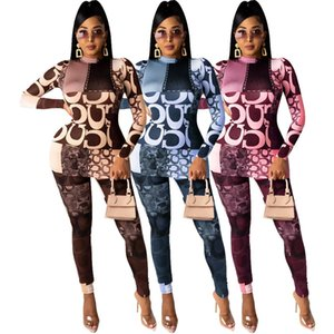 hot selling womens tracksuits long sleeve outfits shirt pants two piece set skinny shirt tights sport suit pullover pants H9200