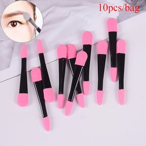 10pcs Portable Eye Shadow Brushes Powder Brush Double Ended Eyeshadow Applicator Pro Sponge Eye Shadow Make Up Supplies