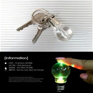 Keychain LED Light Keychains Torch Keyring Colorful Flashlight Rainbow Color Key Chain Necklace Wrestling Not Broken Bulb DHD2755
