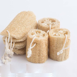 Natural Loofah Luffa Suministros de baño Protección ambiental Producto limpio Exfoliado Frote de espalda suave Loofah Toalla Cepillo Pot Soft 12 P2