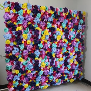 SPR colorful flower wall panels for party event wedding occasion backdrop decorations or home hotel decor