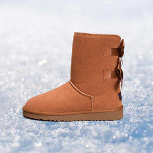 2019 women boots Australia Classic snow Boots WGG tall real leather Bailey Bowknot girl winter desinger Keep warm size 36-41
