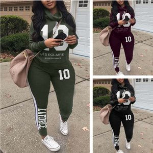 Europe and America Autumn And Winter New fashion tight solid color women's fashionable letters pile collar personalized leisure suit