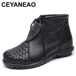 CEYANEAO Brand shoes women's shoes Fall-winter 2020 new comfortable warm made of genuine leather handmade women's