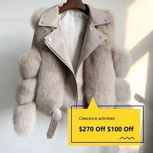 Women Fashion Real Fur Coats With Genuine Sheepskin 2020 Ladies Leather Wholeskin Natural Fur Jacket Outwear Luxury