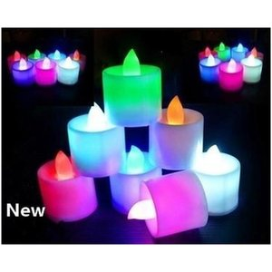 Multicolor Electronic Candle Light Led Simulation Candle Light Birthday Wedding Flameless Flashing Candle Plas sqcTky sports2010