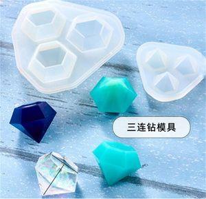 DIY Epoxy Resina Moldes de silicona Gane Glue Crystal Cube Pyramid Triangular Cono Redondo Bola Geometría Molde Herramientas Artesanales Nueva Llegada 9LYA M2