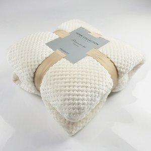 Super Soft Luxury Mesh Blanket Baby Fleece Blanket Towel Sofa Blanket Pineapple Grille Flannel Throw For Home Sofa Bed Bedsheet 201113