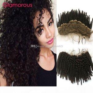 Glamorous Mongolian Hair Lace Frontal Cheap Human Hair 8-24 Brazilian Indian Cambodian Kinky Curly Hair Lace Frontal Closure for black women