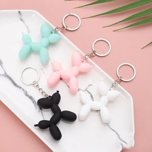 Moda Anahtarlık Sevimli Balon Köpek Anahtarlık Çift Anahtarlık Yaratıcı Karikatür Cep Telefonu Çanta Araba Kolye Eğlenceli Anahtarlıklar