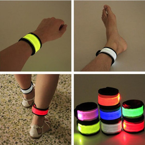 LED Wristband Sport Slap Strap Strap Bands Bands Light Flash Braccialetto Glowng Braccialetto Bracciale Cinturino per Party Concert Brandband in Xmas Halloween Toy 2021